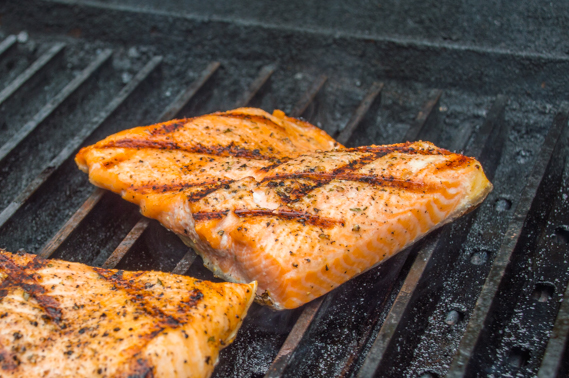 Salmon with Lemon Caper Butter on GrillGrates