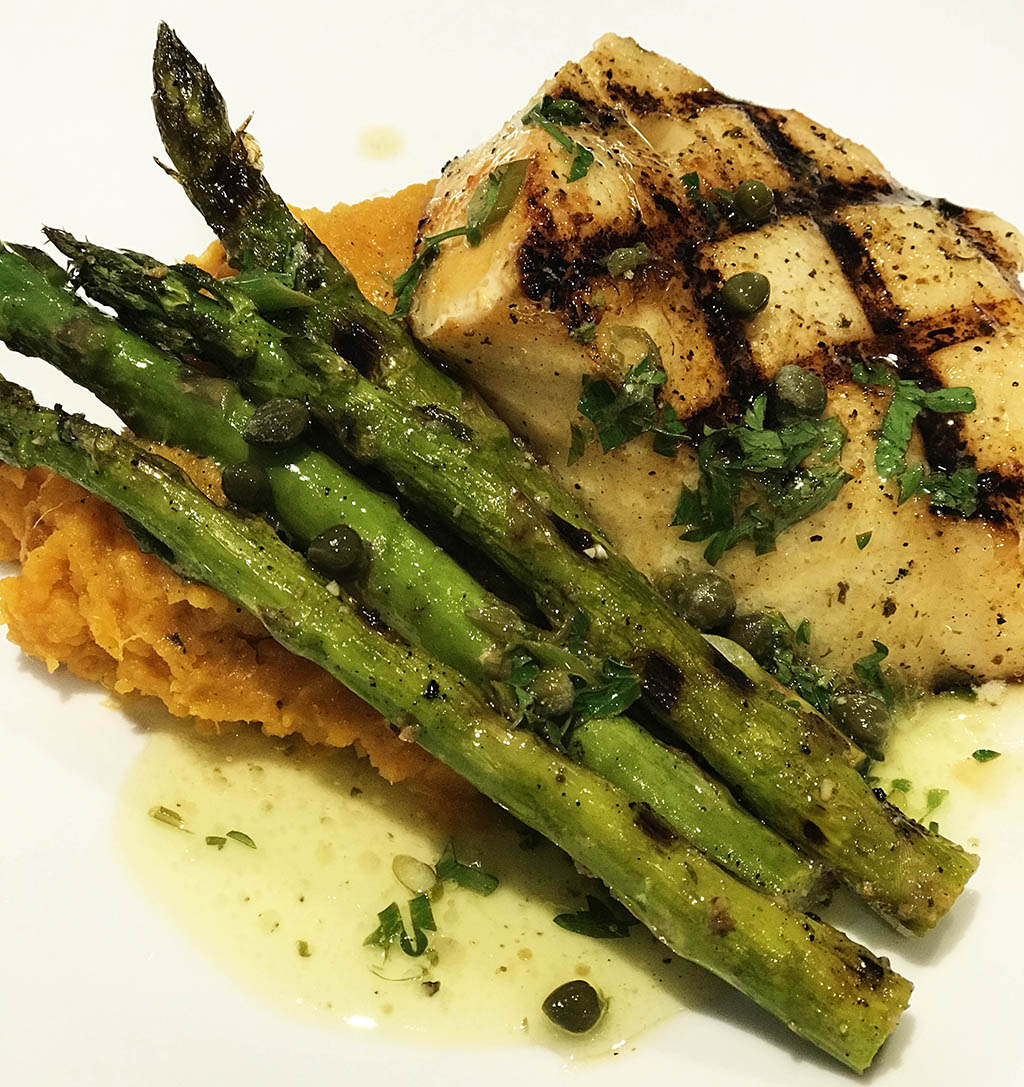 Quick Smoked Hot Seared Chilean Sea Bass With Lemon Caper Butter Sauce Grillgrate
